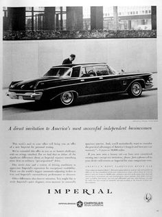 "1963 Chrysler Imperial Crown Sedan original vintage advertisement. ""America's most carefully built car."""