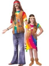 Hippie Daddy and Me Costumes - Party City