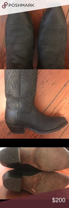 Tony mora palermo black ladies cowboys boots Slightly used. Tony mora. Made in spain.  matte black womens cowboy boots. Like new tony morat Shoes Heeled Boots