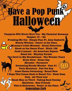 "generation-zer0: "" A Spooky Pop Punk Playlist - Listen Here ""                                                                                                                                                     More"