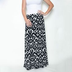 Black and white cats eye Honey & Lace Maxi Skirt 41% off today on #sheSTEALS
