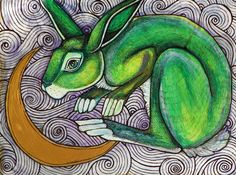 In The Sky I Will Find You (Moon Rabbit) by Lynnette Shelley