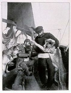 Roald Amundsen aboard the Endurance (with crew mates)by Frank Hurley