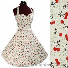 New Retro Cherries Pinup Halter Dress