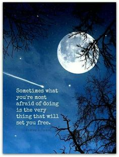 Sometimes what you're most afraid of doing is the very thing that will set you free