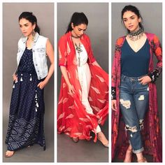 Go global and stay rooted! my fav Easy breezy summer looks for you. with (Link in the bio) Glamouröse Outfits, Casual Outfits, College Outfits, Casual Wear, Indian Attire, Indian Wear, Indian Dresses, Indian Outfits, Shrug For Dresses