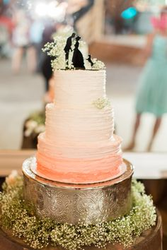 Sorby Sweets Wedding Cake | Courtney Morgan Photography | Textured Buttercream | Buttercream Wedding Cake | Ombre Cake | Blush Wedding Cake