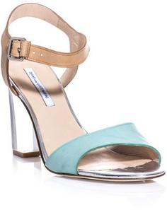 Diane Von Furstenberg - Patmos Sandals #15things #trending #lucite #style #fashion #DVF