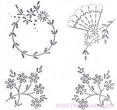 Free Embroidery Pattern: Small Lazy Daisy Stitch Patterns