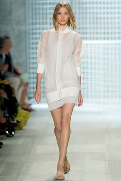 TREND: SPORTY Lacoste Style.com's Guide to the Spring 2014 Runway Trends - sheer, collar, vasity, athletic, tomboy, neutral, whites, monochromatic