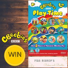#WIN a copy of the #CBeebies Play Time #DVD with Mrs Bishop over on Mrs Bishop's Bakes and Banter Blog
