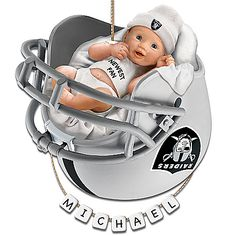 Oakland Raiders Personalized Baby's First Christmas Ornament Oklahoma State University, Oklahoma State Cowboys, Cowboys Football, Football Helmets, Baby First Christmas Ornament, Christmas Countdown, Christmas Time, Christmas Ideas, African American Babies