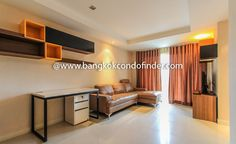 2-Bedroom Condo for Rent at Le Nice Ekamai  -   Learn more of this rental & other available apartments or condos for rent, go to http://bangkokcondofinder.com/bangkok-condos-for-rent/     This is a fashionably furnished 2-bedroom condo for rent at Le Nice Ekamai that has 68 square meters of relaxing space for a young, working couple and their toddler.  The 2-bedroom 2-bathroom condo comes with a balcony and is accessible on freehold term.  The open floor plan integrating t