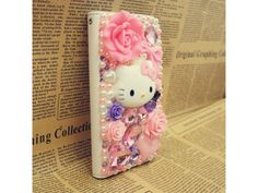 #Lovely Kitty #Leather Wallet #Case for Samsung Galaxy S4