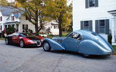 Bugatti Atlantic 1936 x Bugatti Veyron