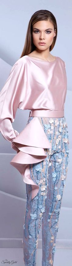 Tarek Sinno - Spring/Summer 2015 - soft, pastel palette and styling. The pants are brilliant.