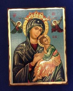 Virgin Mary The Continious Assistance - silkscreen Handmade byzantine icon  | eBay