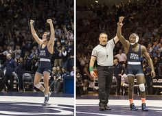 PENN STATE – ATHLETICS – Much to his surprise, David Taylor began to cry. He was standing behind the bleachers at Rec Hall with his family Sunday afternoon, watching his teammate, fellow fifth-year senior Ed Ruth, walk out to be honored before their last wrestling match in Rec Hall, and suddenly it hit him. All the hours of work. All the Nittany Lions have accomplished in their four years on the mat. All the people who had supported and sacrificed for him.
