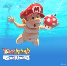 Yoshi Island - Nevermind by *GENZOMAN #nintendo #mario #nirvana #nevermind