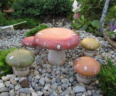 Fairy Garden Mushroom Table And Stools