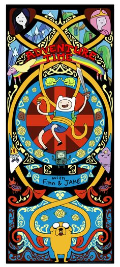 Adventure Time art nouveau by ohyousillypotato