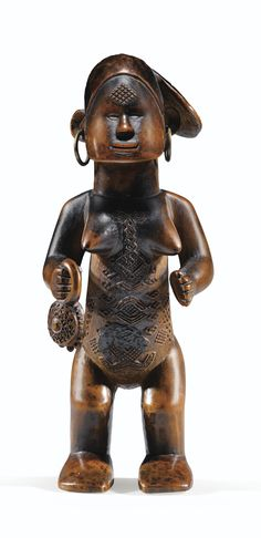 BEMBE-BWENDE FIGURE, REPUBLIC OF THE CONGO -    haut. 18,5 cm 7 1/4 in