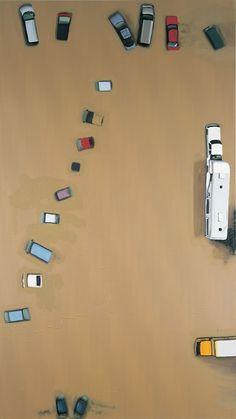 Dirk Skreber, oil on canvas, 2001, 300 x 170 cm