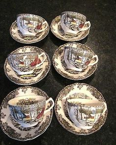 Johnson Brothers Friendly Village Cup and Saucer Set of 6