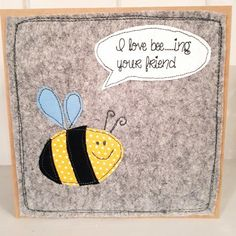 Bee friendship card