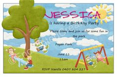 In the Park Birthday Invitations