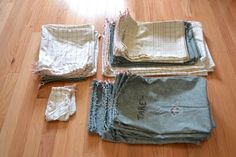 DIY cloth reusable produce and bulk bags for a zero waste kitchen