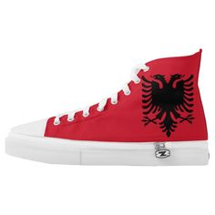 Albania Flag High-Top Sneakers Proud to be Albanian Shoes