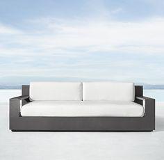 """84"""" Marbella Aluminum Classic Sofa"""