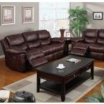 Poundex Furniture - Espresso Padded Leatherette Sofa - F7068  SPECIAL PRICE: $579.00