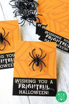 Add a ring to these free printable Halloween Treat Cards for a non-candy Halloween Favor!