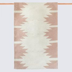 Blush and Cream Accent Rug from The Citizenry