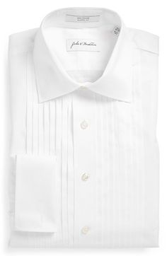 Pleat Evening Classic Fit Double Cuff Shirt by Thomas Pink | Cool ...