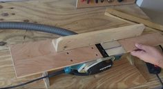 Watch an enterprising maker create a plywood jointer using a shop of other homemade tools.