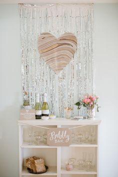 Wedding DIY | Sparkly heart backdrop.