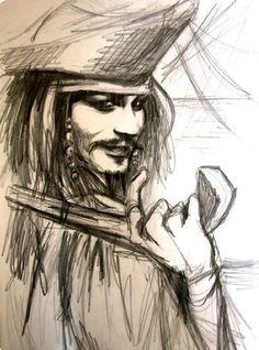 jack sparrow-sketch by kittrose on DeviantArt Jack Sparrow Dibujo, Jack Sparrow Drawing, Sparrow Art, Disney Sketches, Disney Drawings, Cartoon Drawings, Art Drawings, Caribbean Art, Pirates Of The Caribbean