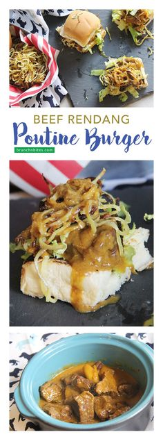 Today we're taking Quebec's famous French fry dish, Poutine, to a whole new level with @IdahoPotato. Beef Rendang Poutine Burger has aromatic taste, spicy crunch, and your attention. #SundaySupper