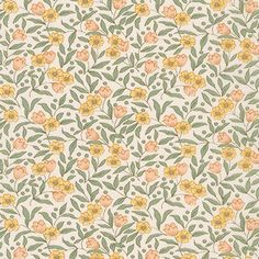 Robert Kaufman Fabrics: SB-6100D10-3 PEACH by Sevenberry from Sevenberry: Petite Fleurs