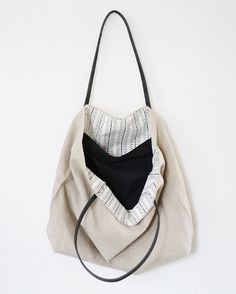 Neutrals Market Tote by Waxmyrtlegoods on Etsy