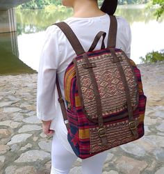 A personal favourite from my Etsy shop https://www.etsy.com/sg-en/listing/212109746/brown-ethnic-hmong-backpack-rucksack