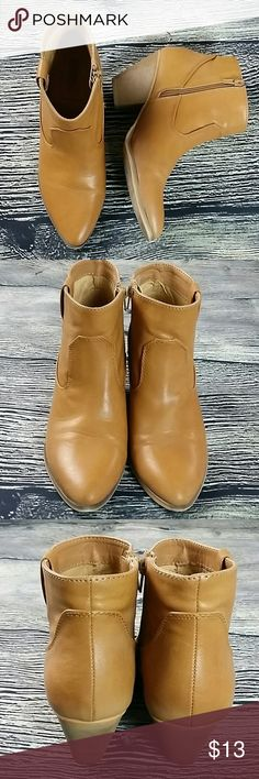 "Western Cowgirl boots 8.5 forever 21 Western Cowgirl Forever 21 heeled boots 8.5 booties  Heel height 3"" Pointy toe  Zipp side Great for the rodeo  Hardly worn Forever 21 Shoes Ankle Boots & Booties"