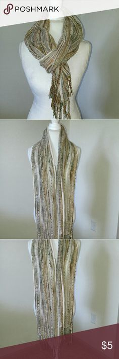 Multi colored scarf This scarf is beautiful. It has shiny thread that shines in the light Accessories Scarves & Wraps