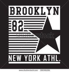 Athletic sport New York typography, t-shirt graphics, vectors
