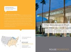 #houseofwork | Universal Leasing Brochure for Rouse Properties. Designed by House of Current, Atlanta, GA. Cover and Back. #houseofcurrent