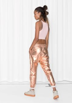 & Other Stories   Metallic Joggers