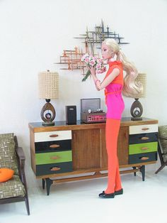 denise poppy doll . by thinkpinkrose, via Flickr, gorgious furniture and lamps